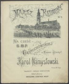 """Marsz """"Religijny"""" No 3 : na cześć N.M.P. Częstochowskiej : z pieśni"""