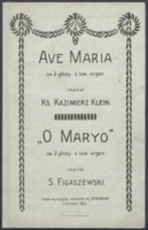 Ave Maria : na 2 głosy z tow. organ