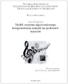 Model systemu algorytmicznego komponowania muzyki na podstawie wzorców