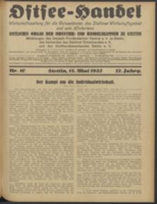 Ostsee-Handel : Wirtschaftszeitschrift für der Wirtschaftsgebiet des Gaues Pommern und der Ostsee und Südostländer. Jg. 12, 1932 Nr. 10