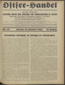 Ostsee-Handel : Wirtschaftszeitschrift für der Wirtschaftsgebiet des Gaues Pommern und der Ostsee und Südostländer. Jg. 12, 1932 Nr. 20