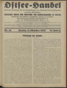 Ostsee-Handel : Wirtschaftszeitschrift für der Wirtschaftsgebiet des Gaues Pommern und der Ostsee und Südostländer. Jg. 13, 1933 Nr. 20