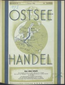 Ostsee-Handel : Wirtschaftszeitschrift für der Wirtschaftsgebiet des Gaues Pommern und der Ostsee und Südostländer Jg. 14, 1934 Nr. 3