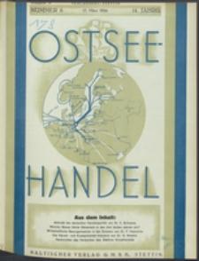 Ostsee-Handel : Wirtschaftszeitschrift für der Wirtschaftsgebiet des Gaues Pommern und der Ostsee und Südostländer Jg. 14, 1934 Nr. 6