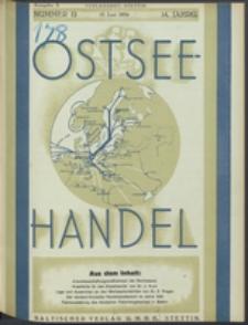 Ostsee-Handel : Wirtschaftszeitschrift für der Wirtschaftsgebiet des Gaues Pommern und der Ostsee und Südostländer Jg. 14, 1934 Nr. 12
