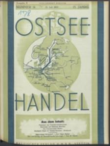 Ostsee-Handel : Wirtschaftszeitschrift für der Wirtschaftsgebiet des Gaues Pommern und der Ostsee und Südostländer Jg. 14, 1934 Nr. 14