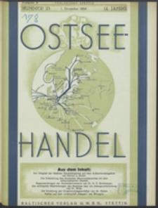 Ostsee-Handel : Wirtschaftszeitschrift für der Wirtschaftsgebiet des Gaues Pommern und der Ostsee und Südostländer Jg. 14, 1934 Nr. 23