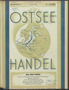 Ostsee-Handel : Wirtschaftszeitschrift für der Wirtschaftsgebiet des Gaues Pommern und der Ostsee und Südostländer. Jg. 15, 1935 Nr. 7