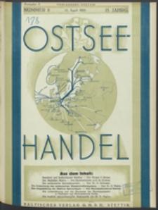Ostsee-Handel : Wirtschaftszeitschrift für der Wirtschaftsgebiet des Gaues Pommern und der Ostsee und Südostländer. Jg. 15, 1935 Nr. 8