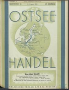 Ostsee-Handel : Wirtschaftszeitschrift für der Wirtschaftsgebiet des Gaues Pommern und der Ostsee und Südostländer. Jg. 15, 1935 Nr. 16
