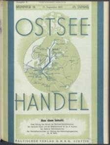 Ostsee-Handel : Wirtschaftszeitschrift für der Wirtschaftsgebiet des Gaues Pommern und der Ostsee und Südostländer. Jg. 15, 1935 Nr. 18