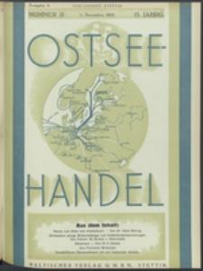 Ostsee-Handel : Wirtschaftszeitschrift für der Wirtschaftsgebiet des Gaues Pommern und der Ostsee und Südostländer. Jg. 15, 1935 Nr. 21
