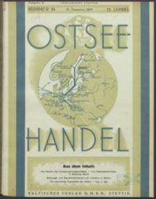 Ostsee-Handel : Wirtschaftszeitschrift für der Wirtschaftsgebiet des Gaues Pommern und der Ostsee und Südostländer. Jg. 15, 1935 Nr. 24