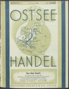 Ostsee-Handel : Wirtschaftszeitschrift für der Wirtschaftsgebiet des Gaues Pommern und der Ostsee und Südostländer. Jg. 16, 1936 Nr. 2