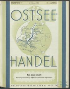 Ostsee-Handel : Wirtschaftszeitschrift für der Wirtschaftsgebiet des Gaues Pommern und der Ostsee und Südostländer. Jg. 16, 1936 Nr. 3