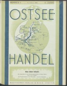Ostsee-Handel : Wirtschaftszeitschrift für der Wirtschaftsgebiet des Gaues Pommern und der Ostsee und Südostländer. Jg. 16, 1936 Nr. 4