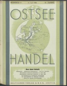 Ostsee-Handel : Wirtschaftszeitschrift für der Wirtschaftsgebiet des Gaues Pommern und der Ostsee und Südostländer. Jg. 16, 1936 Nr. 8