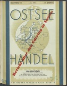 Ostsee-Handel : Wirtschaftszeitschrift für der Wirtschaftsgebiet des Gaues Pommern und der Ostsee und Südostländer. Jg. 16, 1936 Nr. 13