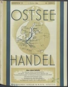 Ostsee-Handel : Wirtschaftszeitschrift für der Wirtschaftsgebiet des Gaues Pommern und der Ostsee und Südostländer. Jg. 16, 1936 Nr. 19