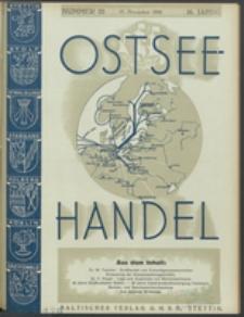 Ostsee-Handel : Wirtschaftszeitschrift für der Wirtschaftsgebiet des Gaues Pommern und der Ostsee und Südostländer. Jg. 16, 1936 Nr. 22