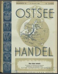 Ostsee-Handel : Wirtschaftszeitschrift für der Wirtschaftsgebiet des Gaues Pommern und der Ostsee und Südostländer. Jg. 16, 1936 Nr. 24
