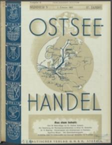 Ostsee-Handel : Wirtschaftszeitschrift für der Wirtschaftsgebiet des Gaues Pommern und der Ostsee und Südostländer. Jg. 17, 1937 Nr. 3