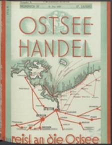 Ostsee-Handel : Wirtschaftszeitschrift für der Wirtschaftsgebiet des Gaues Pommern und der Ostsee und Südostländer. Jg. 17, 1937 Nr. 10