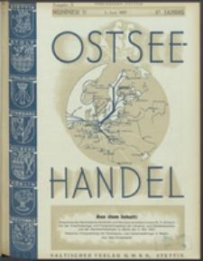 Ostsee-Handel : Wirtschaftszeitschrift für der Wirtschaftsgebiet des Gaues Pommern und der Ostsee und Südostländer. Jg. 17, 1937 Nr. 11