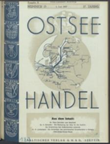 Ostsee-Handel : Wirtschaftszeitschrift für der Wirtschaftsgebiet des Gaues Pommern und der Ostsee und Südostländer. Jg. 17, 1937 Nr. 13