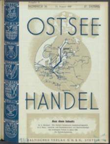 Ostsee-Handel : Wirtschaftszeitschrift für der Wirtschaftsgebiet des Gaues Pommern und der Ostsee und Südostländer. Jg. 17, 1937 Nr. 16