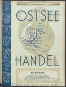 Ostsee-Handel : Wirtschaftszeitschrift für der Wirtschaftsgebiet des Gaues Pommern und der Ostsee und Südostländer. Jg. 17, 1937 Nr. 18