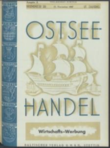 Ostsee-Handel : Wirtschaftszeitschrift für der Wirtschaftsgebiet des Gaues Pommern und der Ostsee und Südostländer. Jg. 17, 1937 Nr. 22