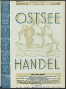 Ostsee-Handel : Wirtschaftszeitschrift für der Wirtschaftsgebiet des Gaues Pommern und der Ostsee und Südostländer. Jg. 17, 1937 Nr. 23