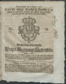 Wochentlich-Stettinische Frag- und Anzeigungs-Nachrichten. 1767 No. 18 + Anhang