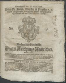Wochentlich-Stettinische Frag- und Anzeigungs-Nachrichten. 1767 No. 19 + Anhang
