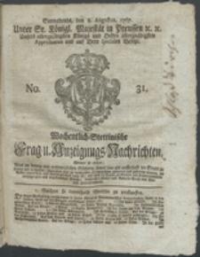 Wochentlich-Stettinische Frag- und Anzeigungs-Nachrichten. 1767 No. 31 + Anhang