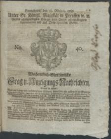 Wochentlich-Stettinische Frag- und Anzeigungs-Nachrichten. 1767 No. 40+ Anhang