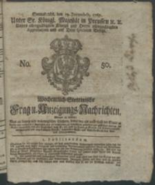 Wochentlich-Stettinische Frag- und Anzeigungs-Nachrichten. 1767 No. 50 + Anhang