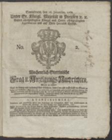 Wochentlich-Stettinische Frag- und Anzeigungs-Nachrichten. 1768 No. 2 + Anhang