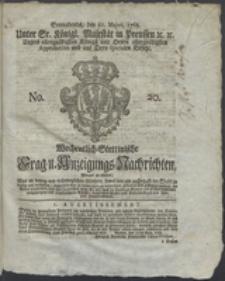 Wochentlich-Stettinische Frag- und Anzeigungs-Nachrichten. 1768 No. 20 + Anhang