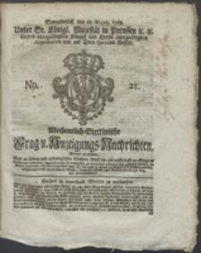 Wochentlich-Stettinische Frag- und Anzeigungs-Nachrichten. 1768 No. 21 + Anhang