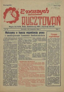 Z Naszych Rusztowań. R.1, 1954 nr 11