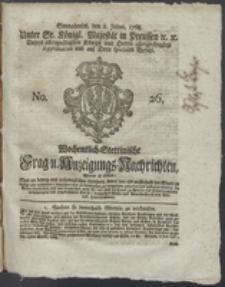 Wochentlich-Stettinische Frag- und Anzeigungs-Nachrichten. 1768 No. 26 + Anhang