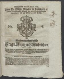 Wochentlich-Stettinische Frag- und Anzeigungs-Nachrichten. 1768 No. 28 + Anhang