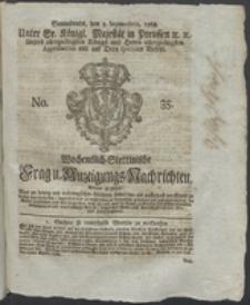 Wochentlich-Stettinische Frag- und Anzeigungs-Nachrichten. 1768 No. 35 + Anhang