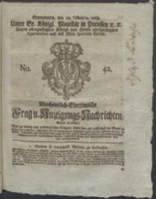 Wochentlich-Stettinische Frag- und Anzeigungs-Nachrichten. 1768 No. 42 + Anhang