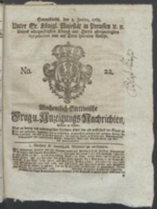 Wochentlich-Stettinische Frag- und Anzeigungs-Nachrichten. 1769 No. 22 + Anhang