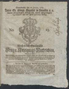 Wochentlich-Stettinische Frag- und Anzeigungs-Nachrichten. 1769 No. 23 + Anhang