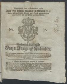 Wochentlich-Stettinische Frag- und Anzeigungs-Nachrichten. 1769 No. 37 + Anhang