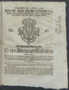 Wochentlich-Stettinische Frag- und Anzeigungs-Nachrichten. 1769 No. 40 + Anhang
